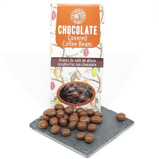Granos de café bañados en chocolate con leche