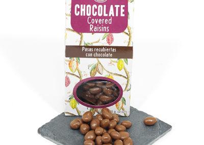 recubiertos chocolate pasas