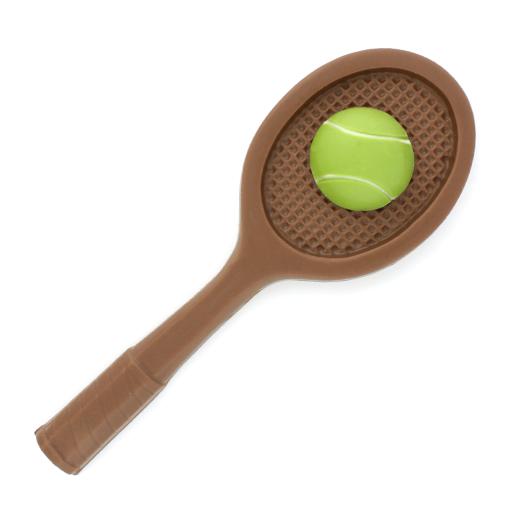 Raqueta de tenis con pelota