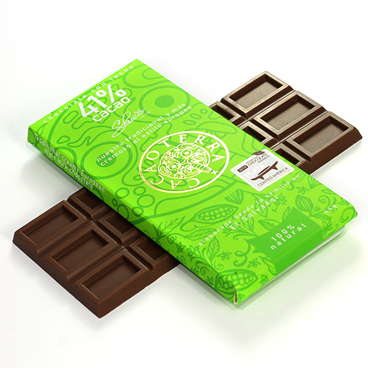 Cacaoterra Chocolate con Leche 41% cacao – Personalizada