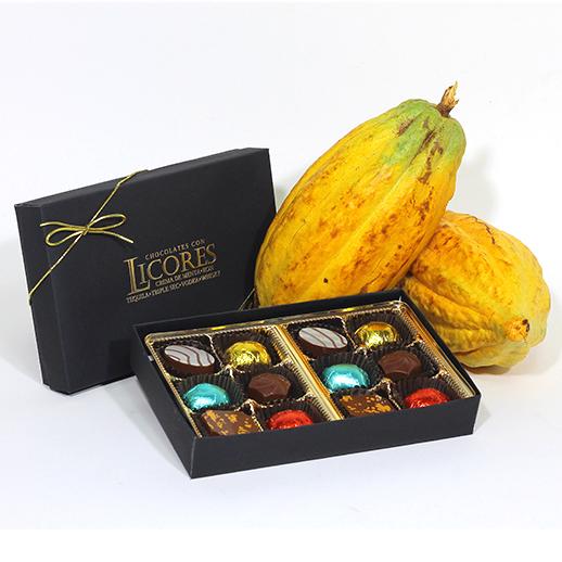 Chocolates rellenos con Licor