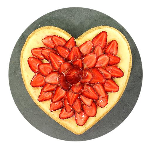 Corazón Cheesecake con Fresas