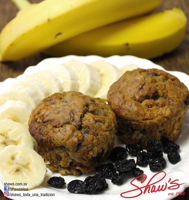 Muffins de Banano sin azúcar