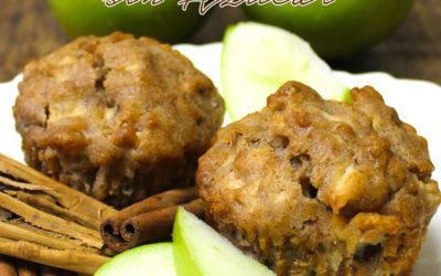Muffins de Manzana con canela sin azúcar