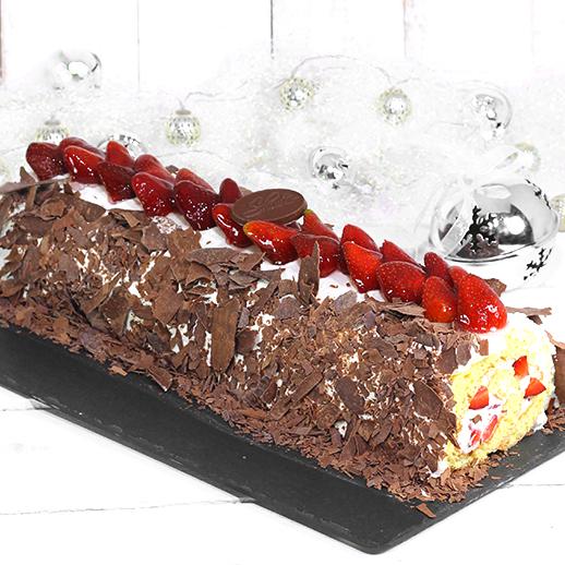 Brazo de Fresas con Chocolate Oscuro
