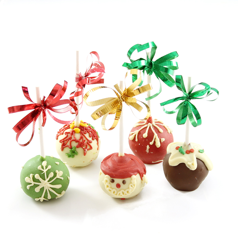 Christmas Brownie Pops