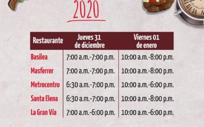 Horario de Año Nuevo