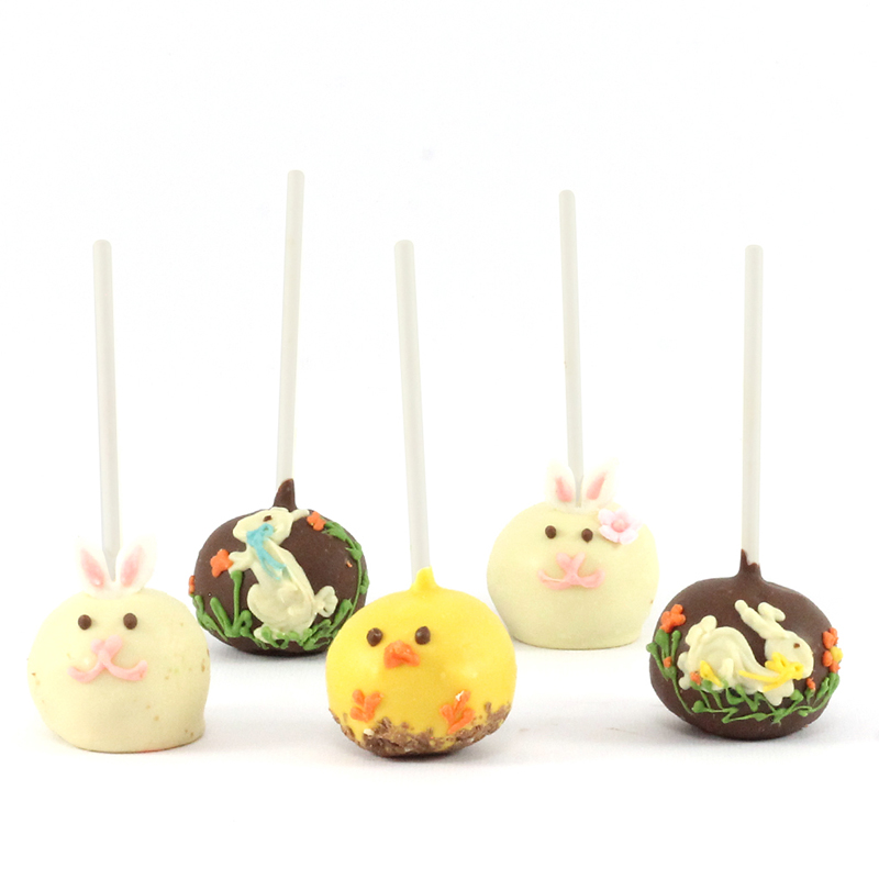 Easter on a stick (Brownie Pops!)