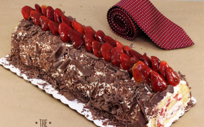 Brazo de Chocolate con Fresas para Papá