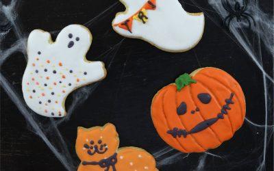 Espeluznantes galletas de vainilla